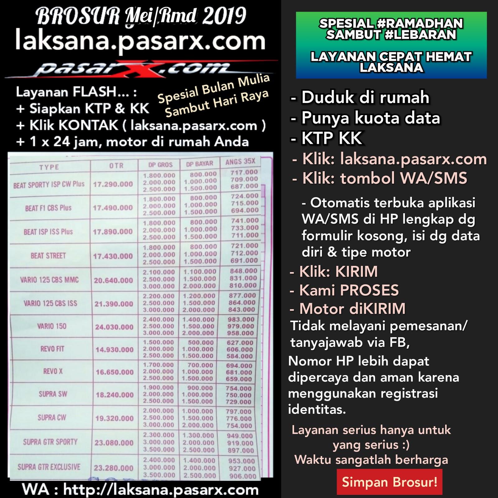 2019 2020 BROSUR Daftar HARGA Kes KREDIT MOTOR HONDA ...