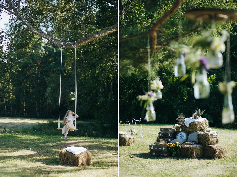 kāzu dekors, vintage stils kāzās