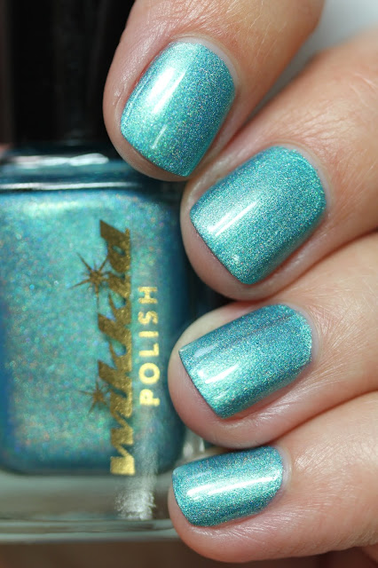 turquoise holographic nail polish