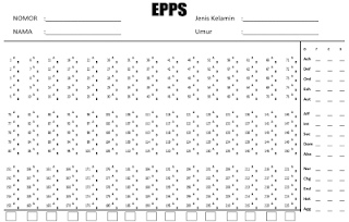 Tes Edwards Personal Preference Schedule  Contoh Soal Edwards Personal Preference Schedule (EPPS)