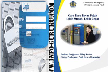 Cara Registrasi Pembayaran Pajak Dengan E - Billing Pajak dan Buku Panduannya