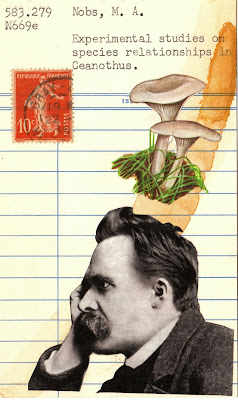 lady liberty french postage stamp mushrooms fungi nietzsche profile photo liberte France library card Dada Fluxus mail art collage