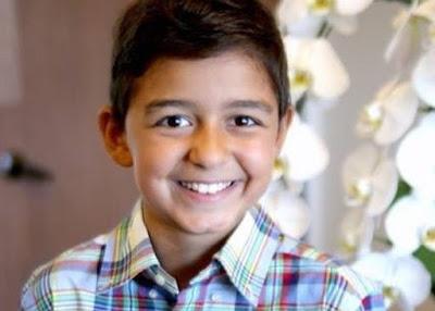 الطفل زين يوسف المصاب بالسرطان