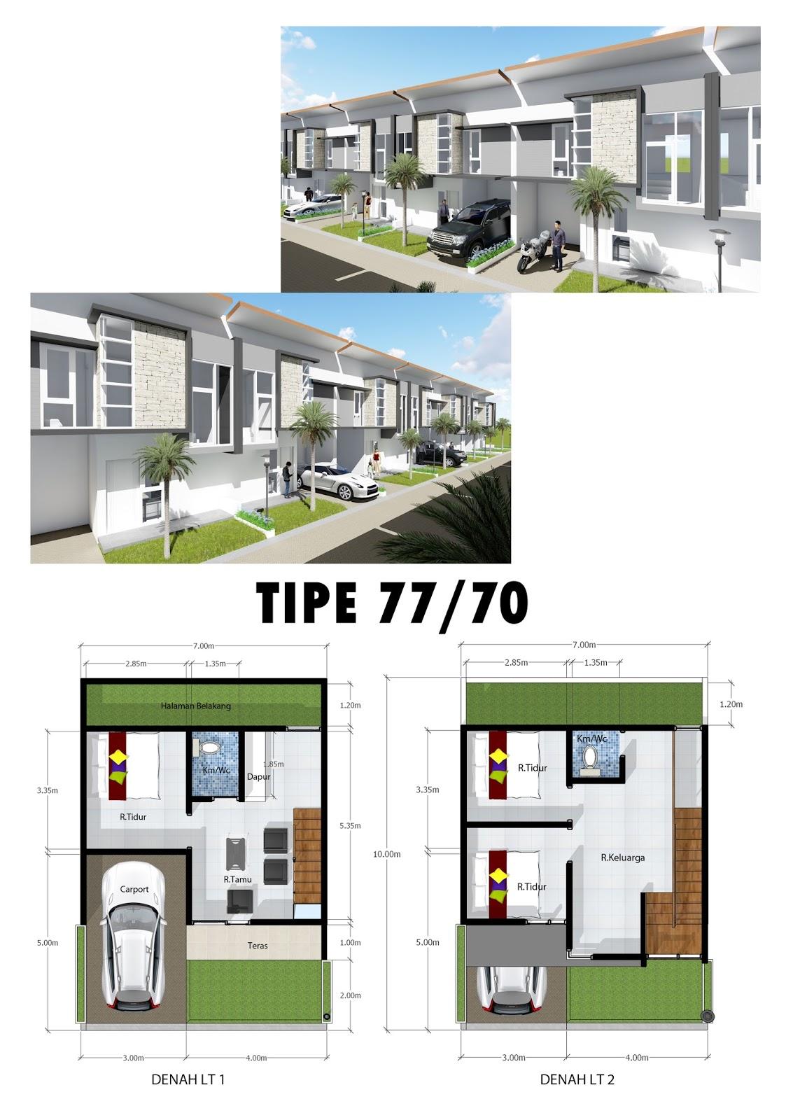 Rumah villa tipe 77/70 di Exotic Panderman Hill - Batu Malang.