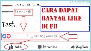 Cara Menambah Like di FB Secara Otomatis