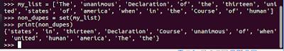 get rid of duplicates list python