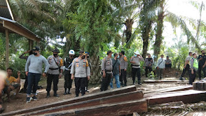Mapolres Muarojambi Amankan 127 Batang Kayu Bantalan Tanpa Pemilik