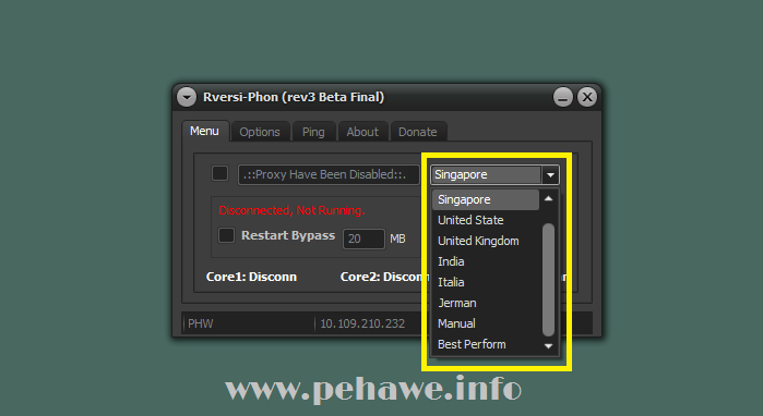 Setting Rversi-Phon Untuk Videomax Telkomsel