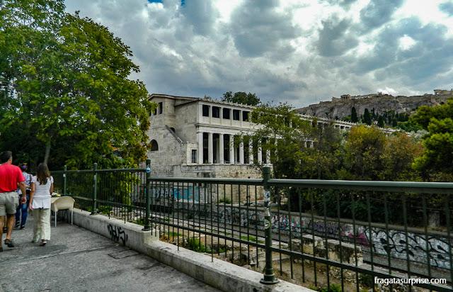 Estôa de Átalo, na Ágora Antiga de Atenas