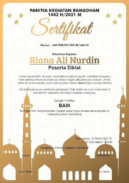 Free Sertifikat Docx : Download Kumpulan Sertifikat Ramadhan Microsoft Word