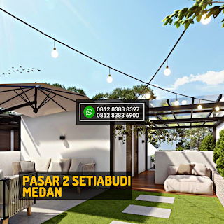 Roof Top 1 Siang Hari Rumah Cantik Mewah Berkualitas di Pasar 2 Setiabudi Ringroad Medan - Twin Luxury