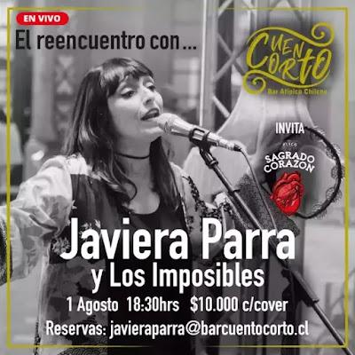 Javiera y Los Imposibles regresa a los shows presenciales en Bar Cuento Corto