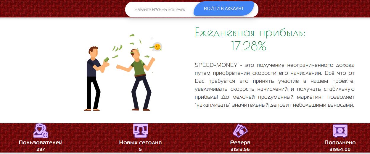 Мошеннический сайт spedmoney.xyz – Отзывы, развод, платит или лохотрон? Информация