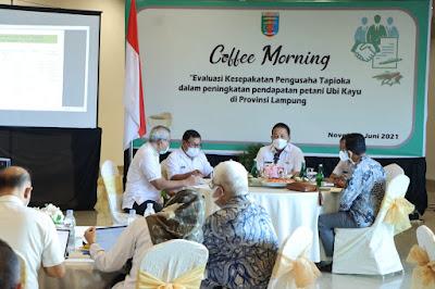 Gubernur Arinal Hadiri Coffee Morning bersama Pengusaha Industri Tapioka