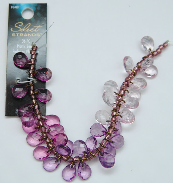 purple ombre beads