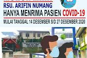 Pelayanan Di RS Arifin Nu'mang Tutup Sementara Waktu Akibat Pegawainya Terpapar Covid-19