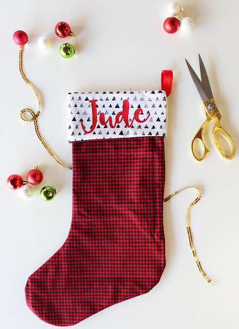 Create a personalized stocking in no time with Cricut Maker!