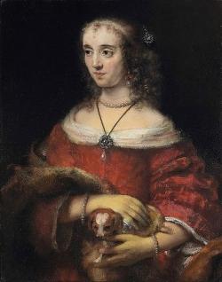 Подборка картин  «Дамы с собаками»
