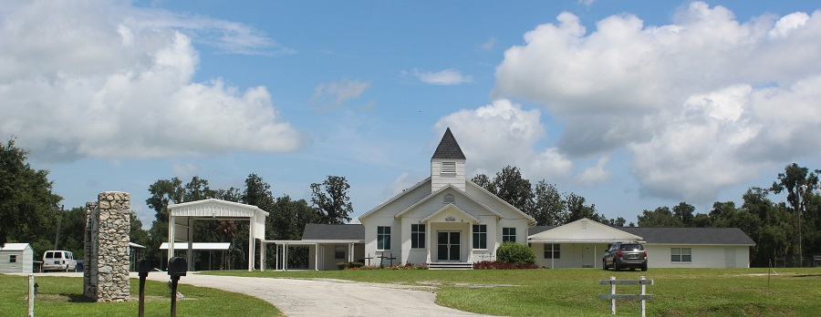 First Baptist Church of Linden, al comienzo de la ruta