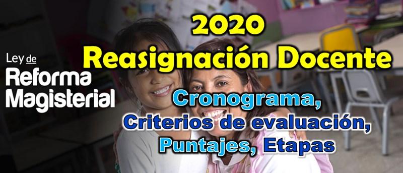 Cronograma, criterios de evaluación, puntajes, etapas | Reasignación Docente 2020