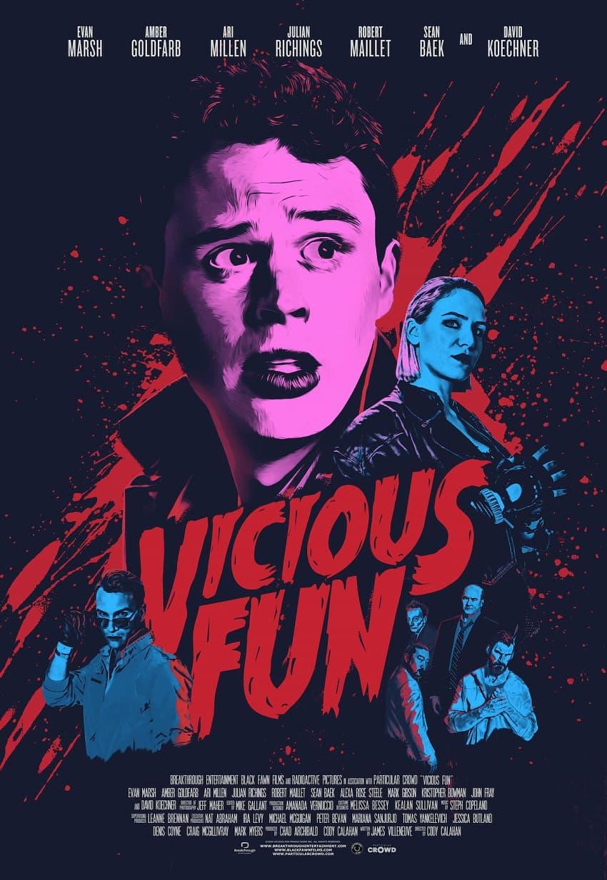 Вышел трейлер фильма ужасов Vicious Fun от авторов «Еретиков» и «Антисоциалки» - Постер