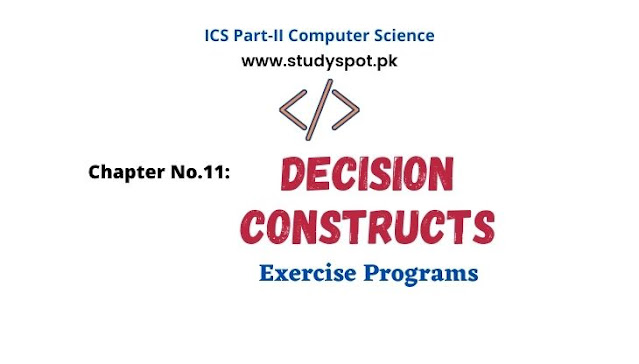 decision making statements in c, exercise programs