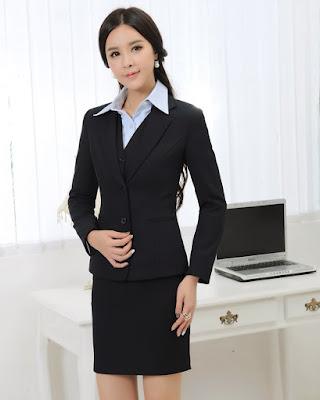 Seragam Kantoran wanita Jepang seksi dan hot super montok