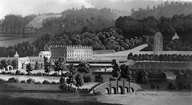 Chatsworth House  Country seat of the Duke of Devonshire  from The Lady's Magazine (1789)