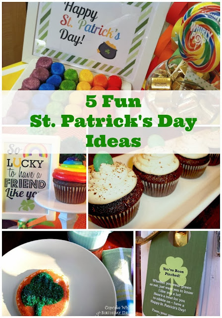 rainbow cupcakes, Bailey's Irish cream cupcakes, You've Been Pinched Printable, Lucky Clover pancakes, Rainbow Marshmallows, St. Patrick's Day Breakfast,  St. Patrick's Day Printables