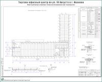 Проект торгово-офисного центра по ул. 10 Августа в г. Иваново. Конструктивные решения - Схема расположения плит перекрытия