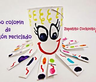 http://zapatitoscochinitos.blogspot.mx/2015/01/pulpo-reciclado-de-carton.html