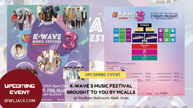 [Upcoming Event] K-WAVE 3 MUSIC FESTIVAL BROUGHT TO YOU BY MCALLS
