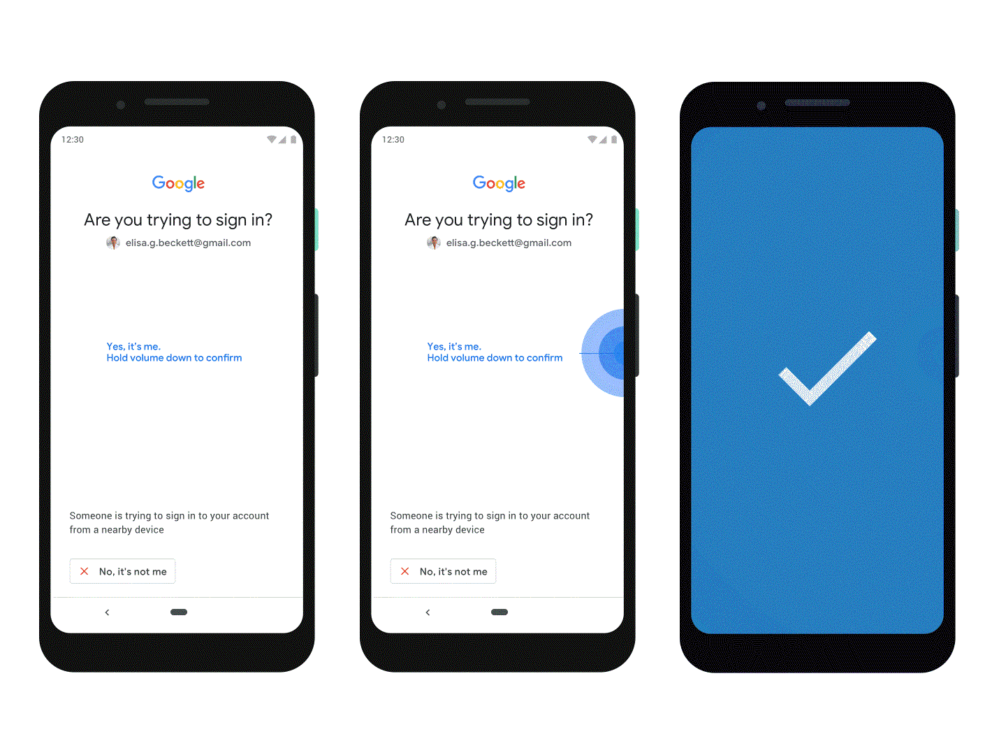 Android devices including version 7 and above can be used as 2FA security keys for signing into Google accounts