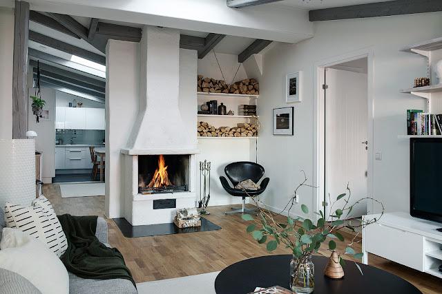 Amenajare tihnită într-o mansardă de 68 m²