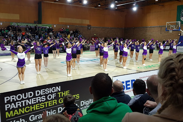 Manchester Giants Basketball Cheerleading Squad half time entertainment