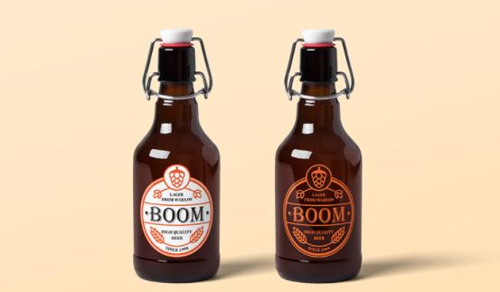 Mockup botol bir gratis
