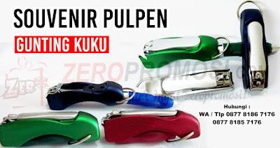 Pulpen dengan gunting kuku diujungnya, souvenir pen gunting kuku, Bolpen Pena Gunting Kuku Lipat, Pulpen Portable Gunting Kuku Murah Unik & Lucu