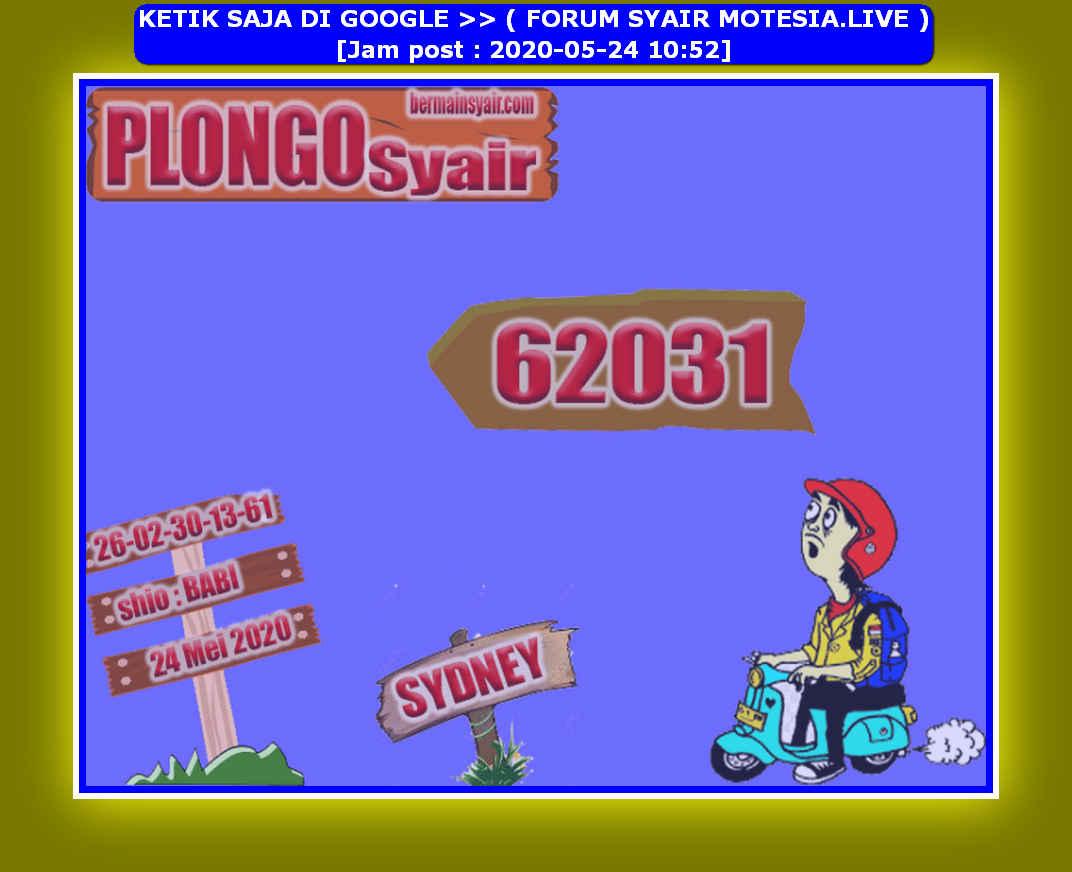 Kode syair Sydney Minggu 24 Mei 2020 189