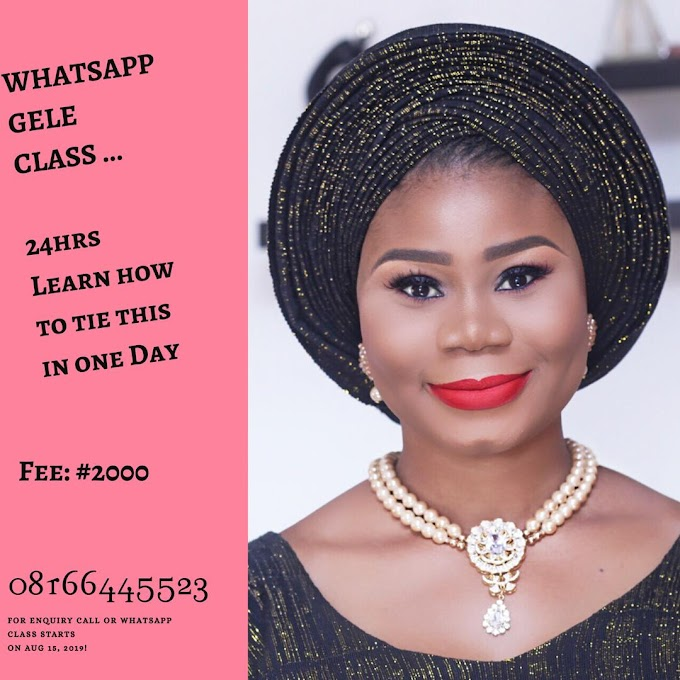 Learn Gele Tying In 24 Hours, For Just N2000 Only!