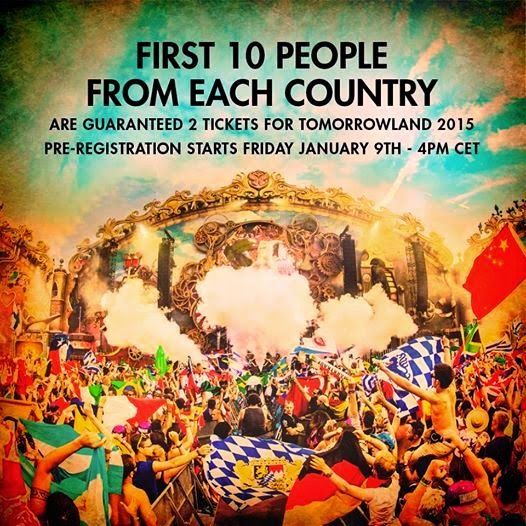 Tomorrowland 2015 Tickets Pre-registration, Info, Dates