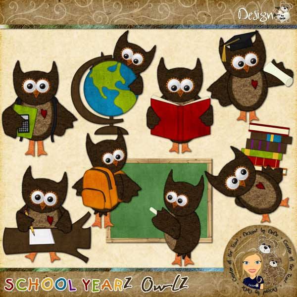 School YearZ: OwlZ by DeDe Smith (DesignZ by DeDe)