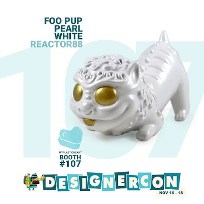 Designer Con 2018 Exclusive Foo Pup Pearl White Edition Resin Figure by Reactor88 x myplasticheart