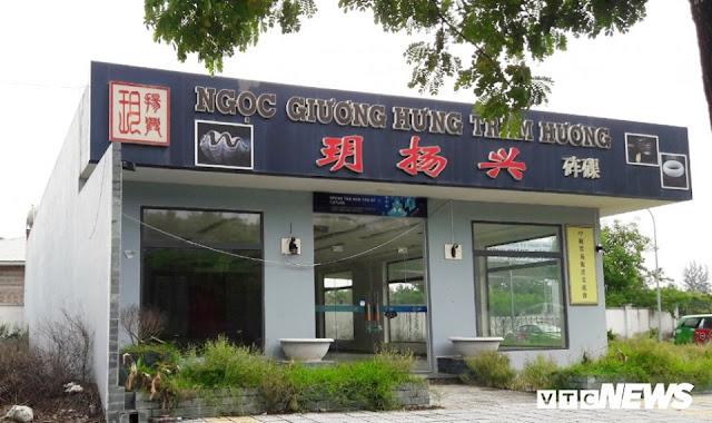 Cận cảnh 'phố người Trung Quốc' cận kề Sân bay Nước Mặn Đà Nẵng 7