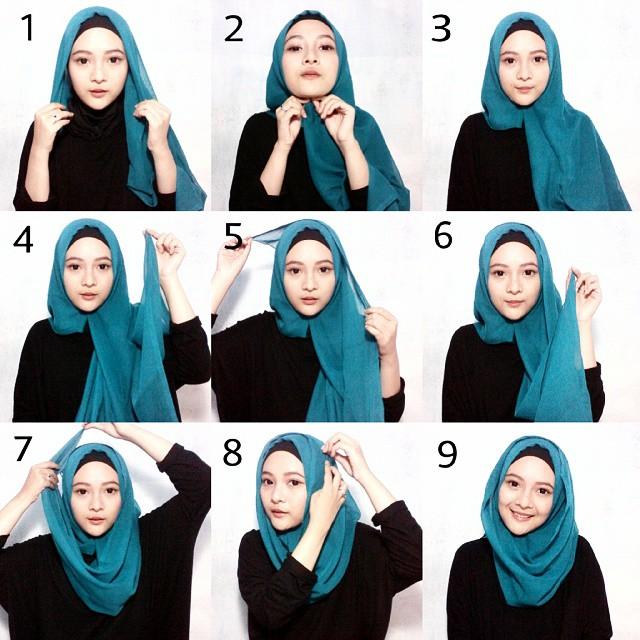 hijab tutorial segitiga