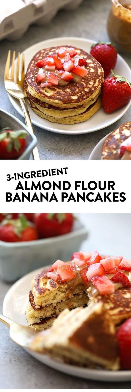 3 Ingredient Almond Flour Pancakes
