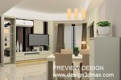 Design Rak TV Lemari Pajang Living Room Apartemen