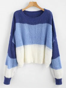 ZAFUL Oversized Stripes Sweater – Multi
