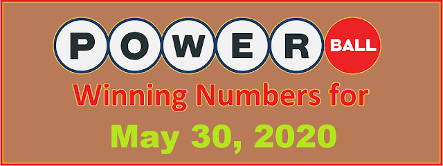 PowerBall Winning Numbers for Saturday, May 30, 2020