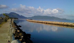 Indonesian tourism: boating and fishing on the coast of Ulee Lheue Aceh