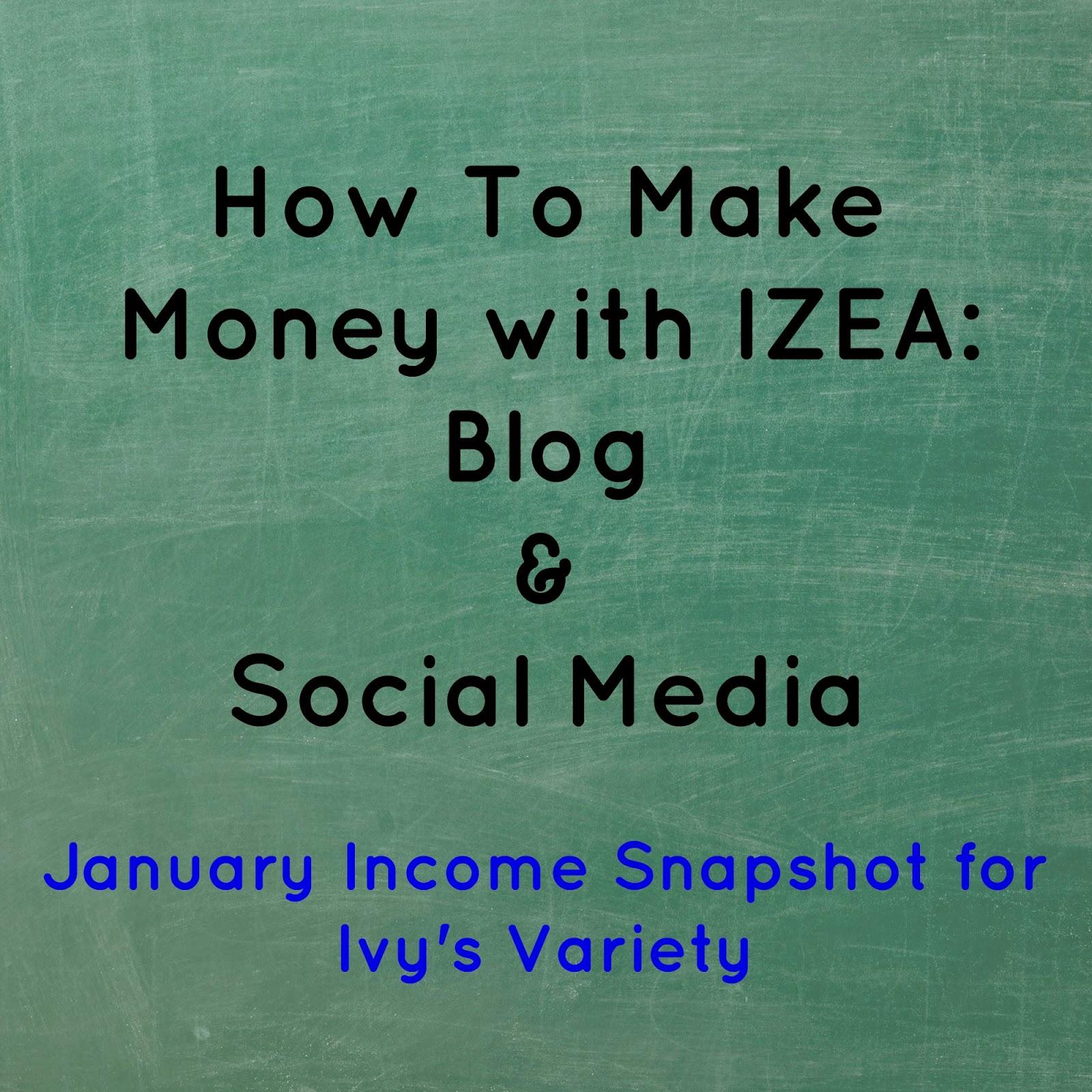 January IZEA income from twitter #ivysvariety